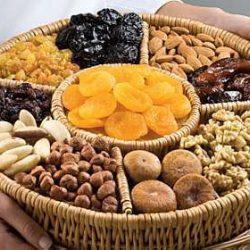 frutas secas alimentos naturais